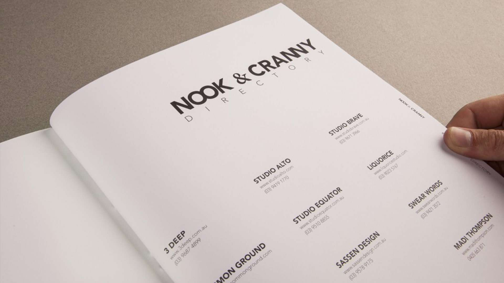 Oslo Norway's Nook & Cranny Magazine showcases 11 of the best creative design studios in Melbourne including Studio Equator
