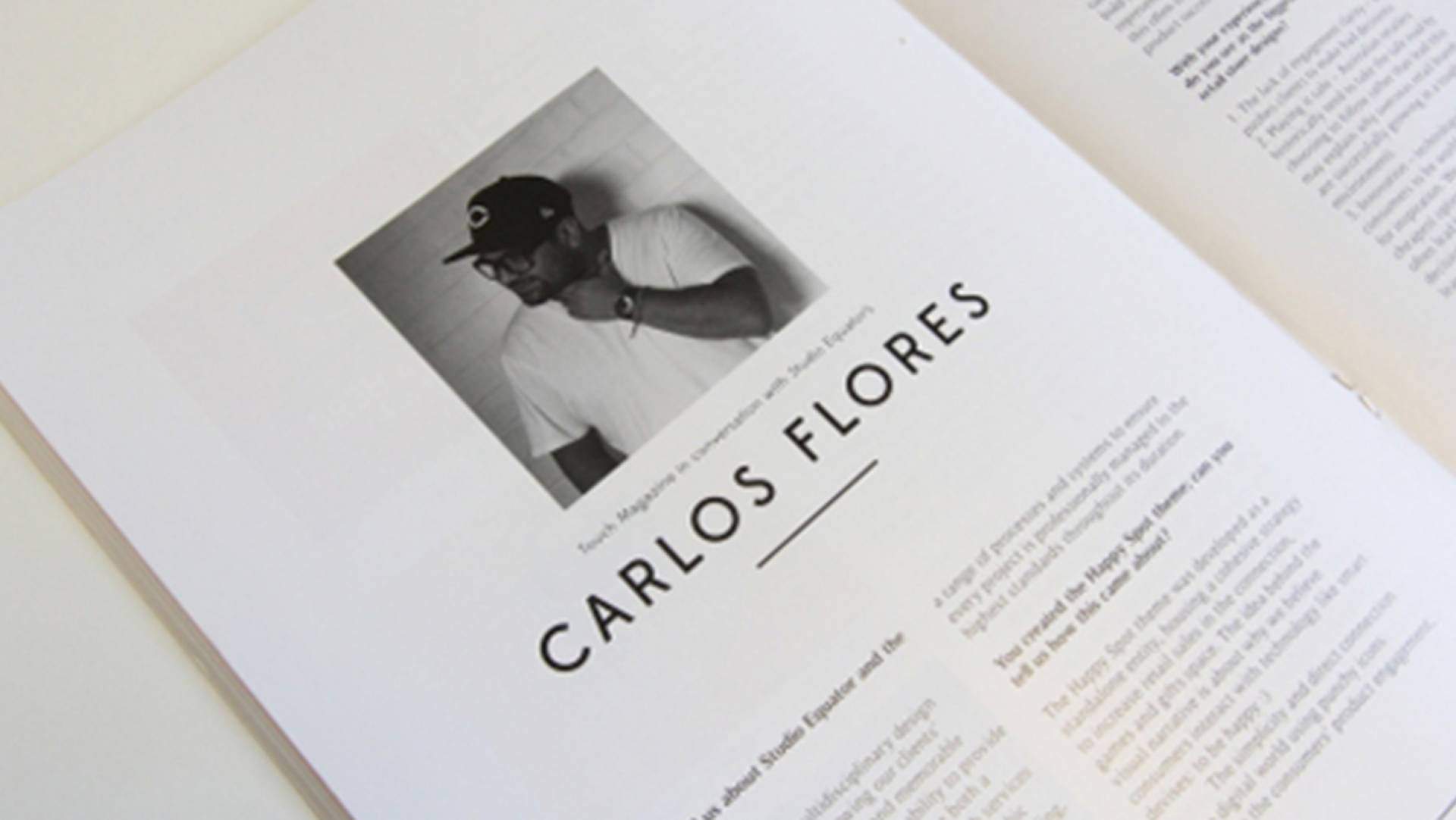 Touch Magazine Interviews Creative Director and Owner of Studio Equator, Carlos Flores
