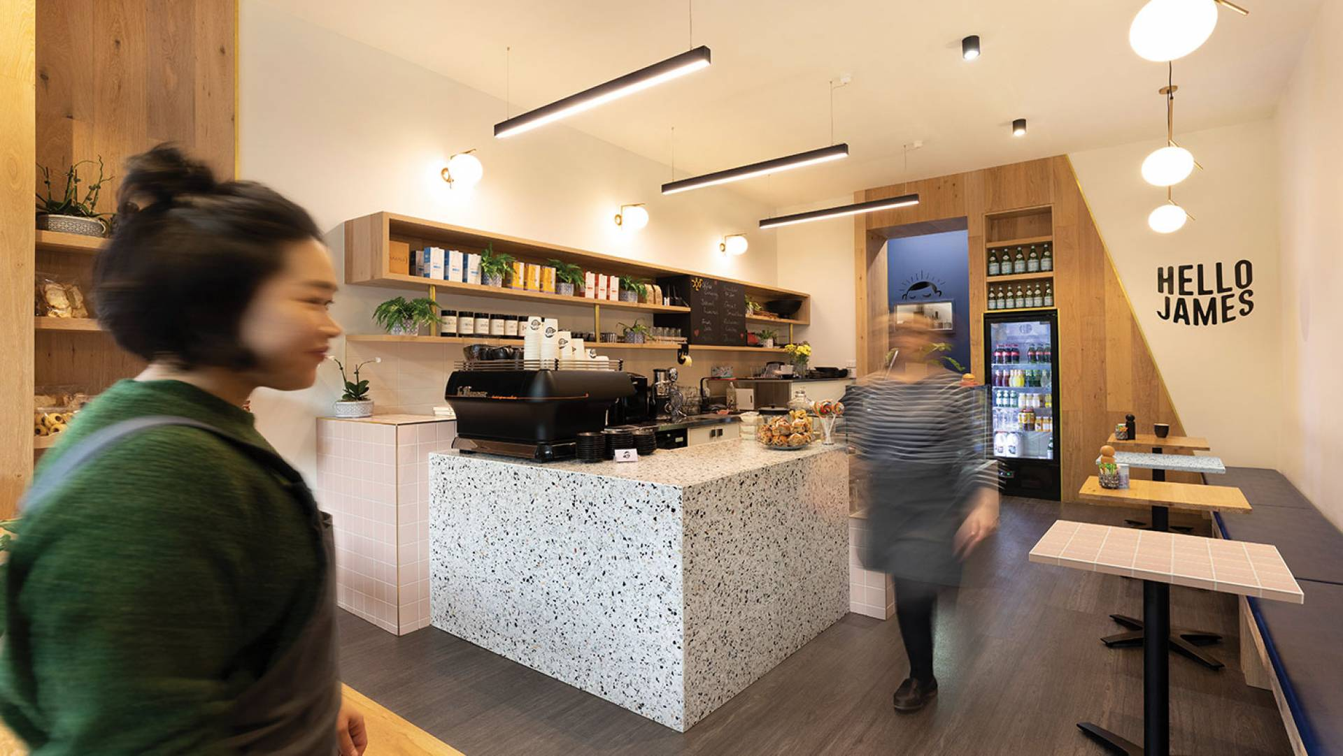 Hello James cafe Toorak Interior Designers