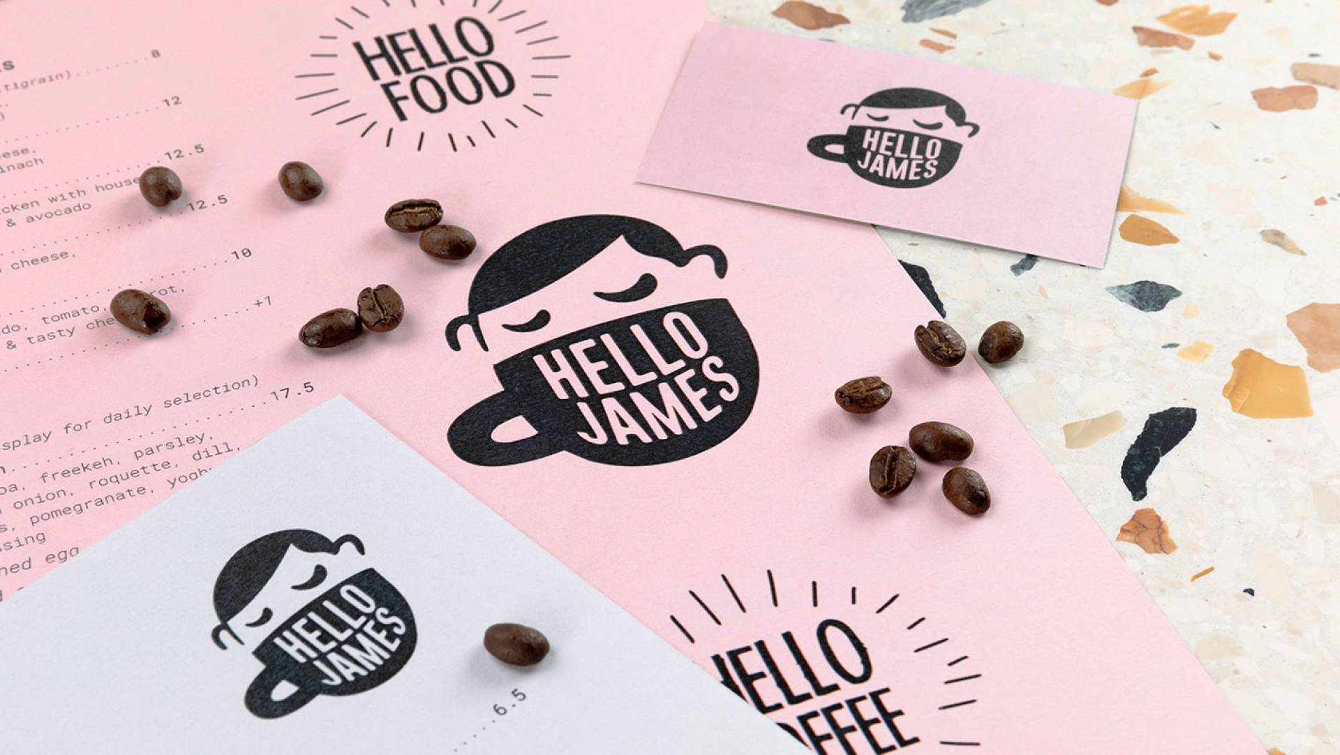 Hello James Cafe Toorak Menu & Stationery Design