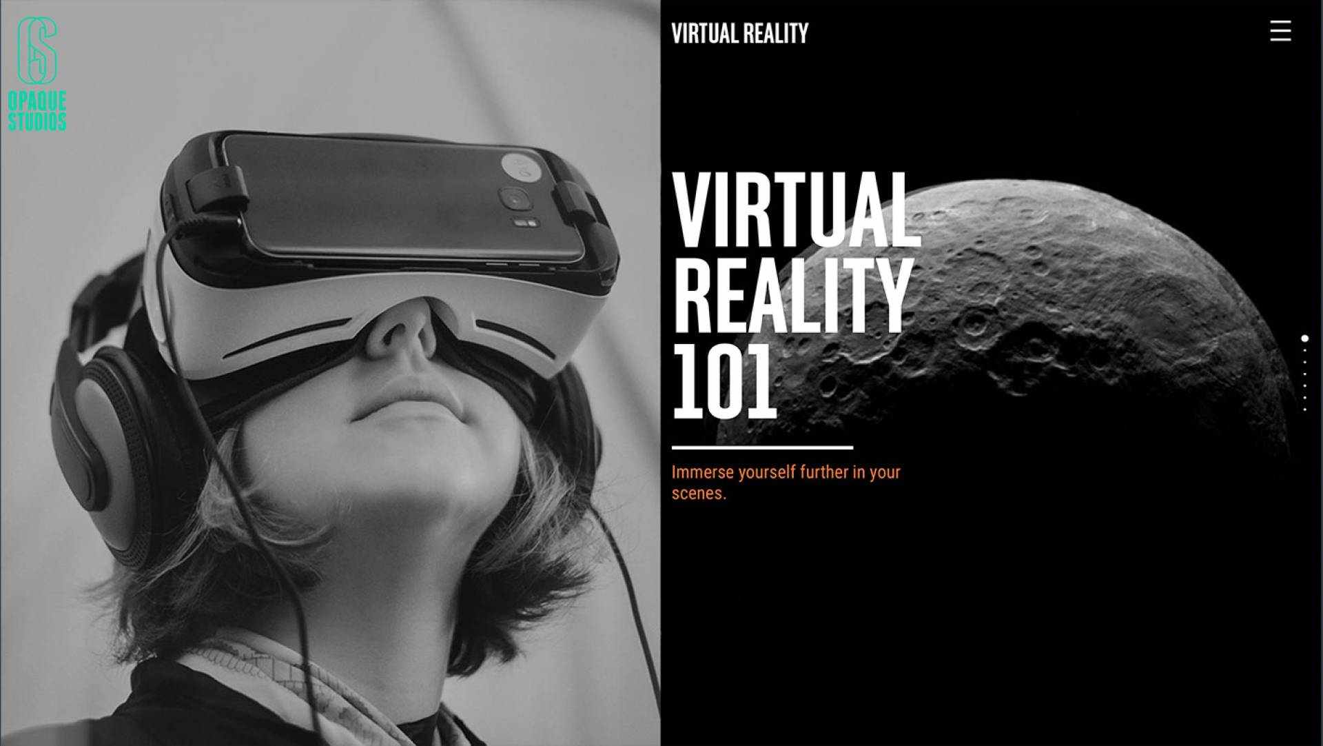 Visual Identity Designers & Web Developers Melbourne - Opaque Studios Virtual Reality