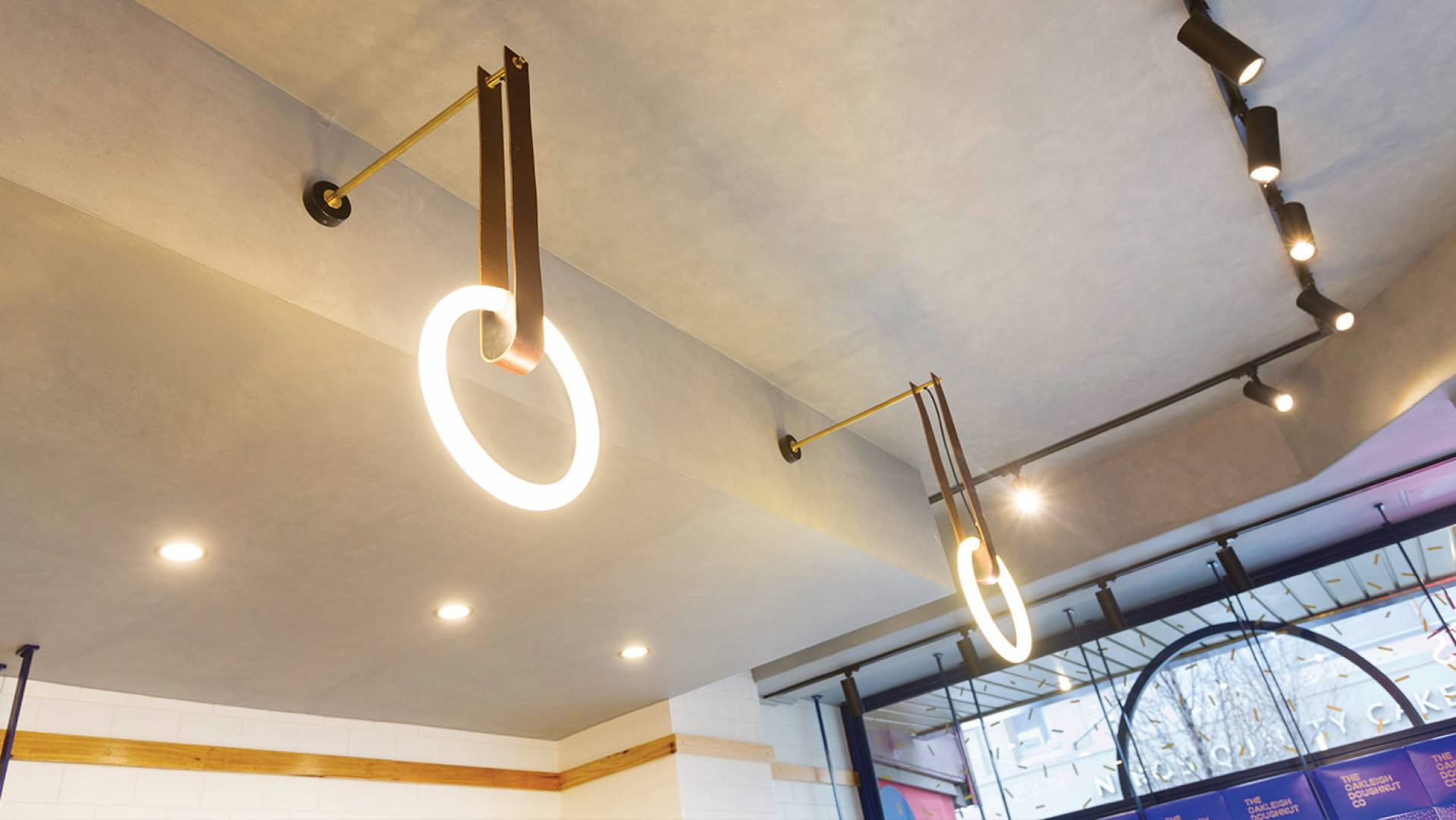 Doughnut & Cafe Design Melbourne-Oakleigh Doughnut Co TODCO Designer: Custom Lighting