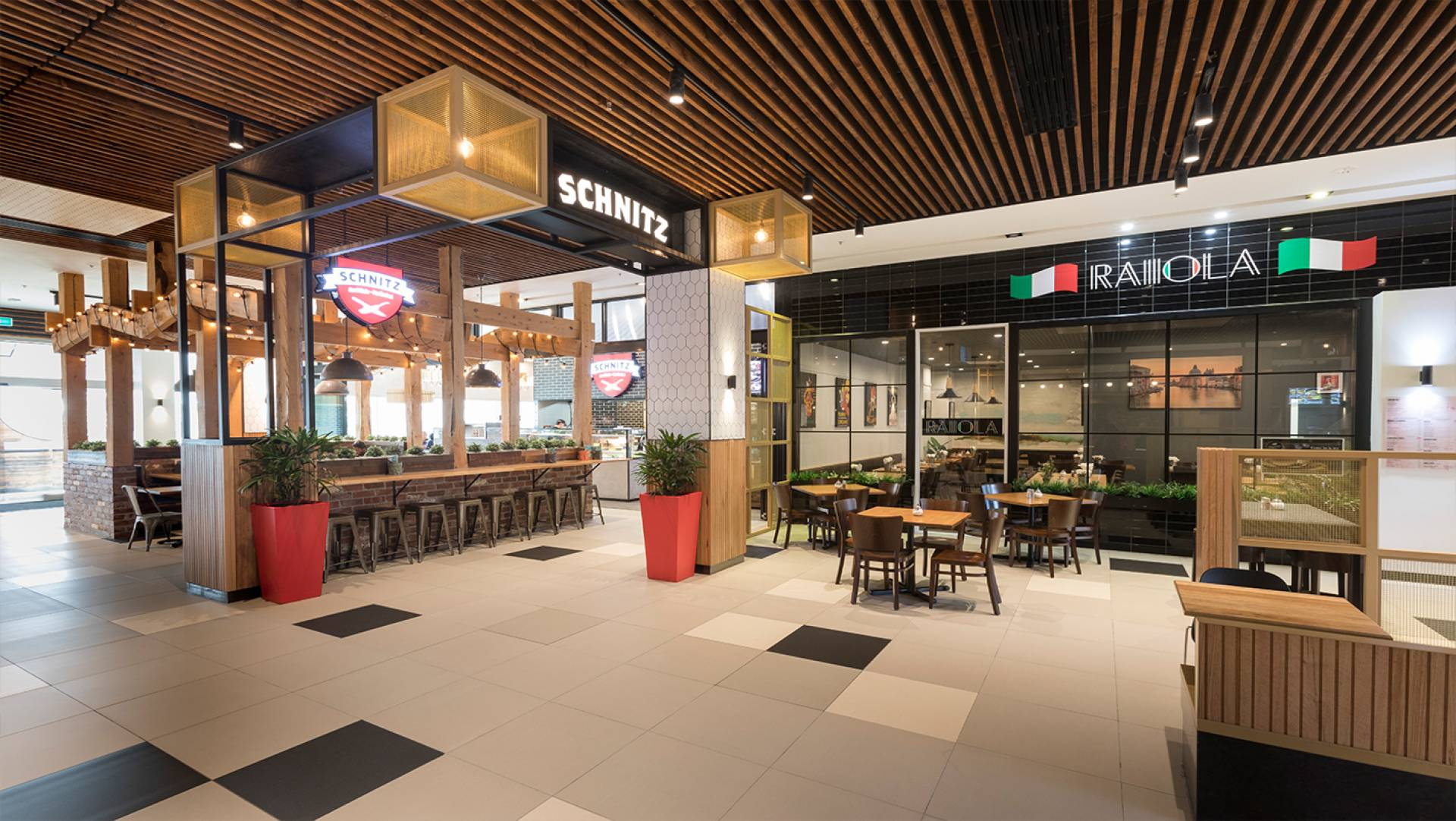 Restaurant Precinct Designer - Burwood One Shopping Centre Restaurant Precinct