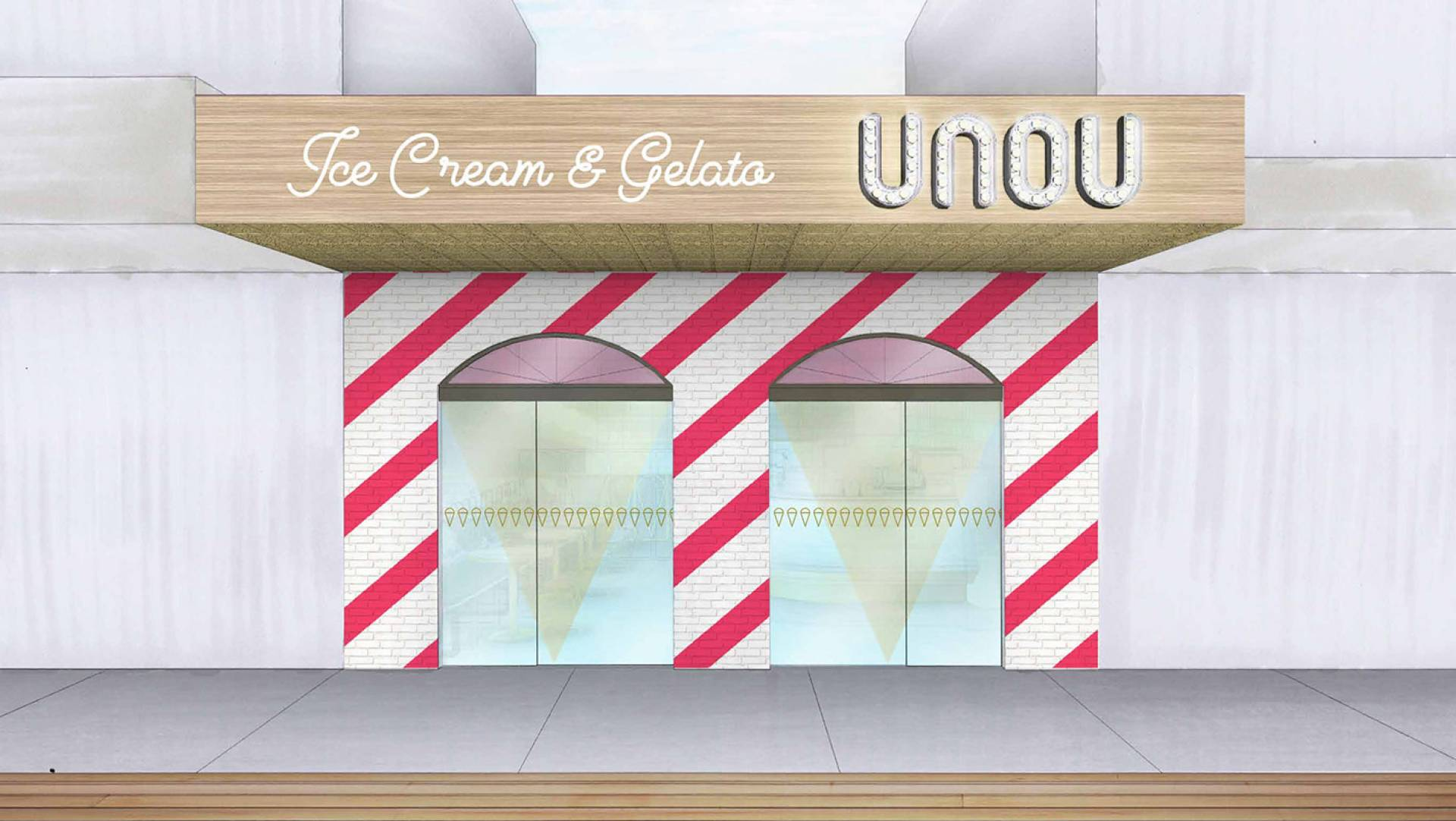 Ice Cream Gelato Store Design Melbourne - Unou Ice Cream & Gelato