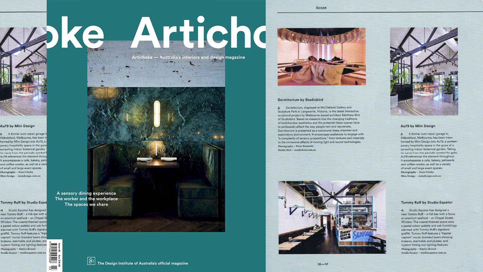 Tommy Ruff Restaurant Write Up in Artichoke Magazine