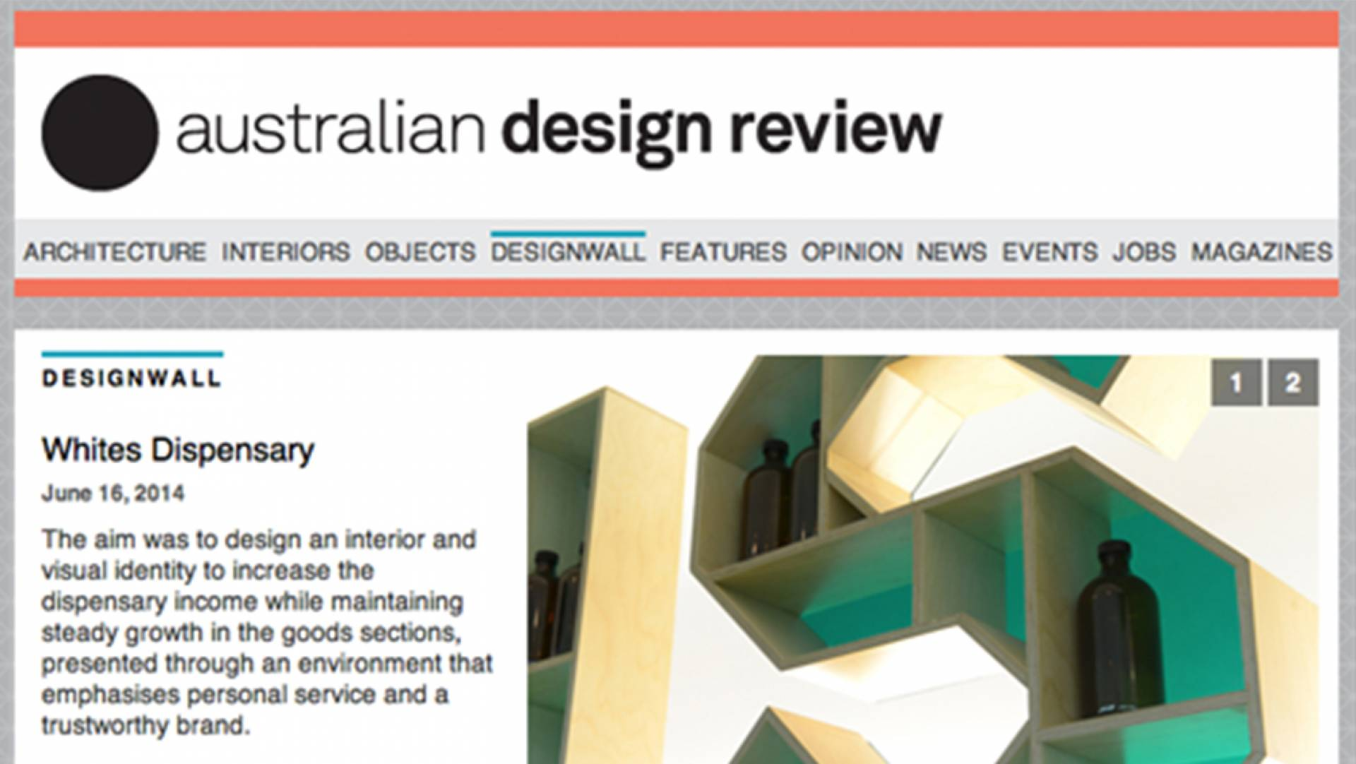 WHITES DISPESARY Australian Design Review