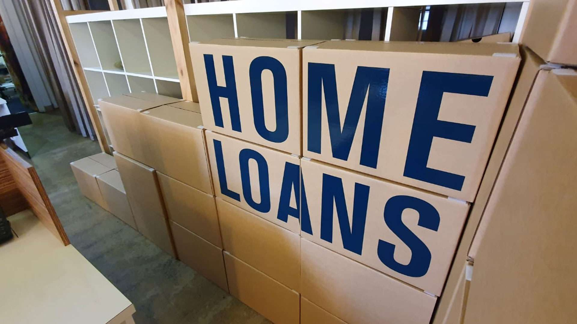 Studio Equator Hard working on Pop Up Stand Design Mock Up for SEED Home Loans